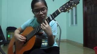 Howl's Moving Castle ハウルの動く城: Merry-go-round of Life on -(guitar) Lê Thu Trang