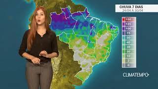 Confira como fica o acumulado de chuva para todo o Brasil nos próximos dias.