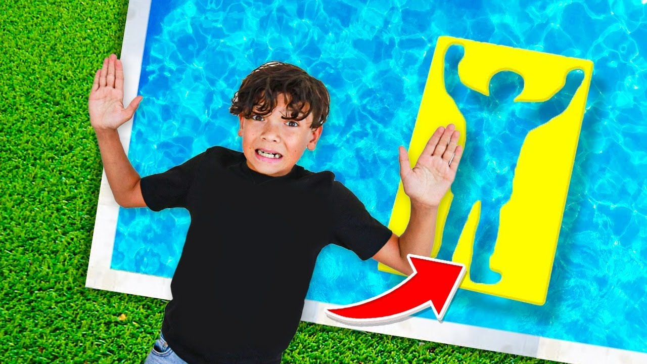 JUMPING through IMPOSSIBLE SHAPES into the pool!
