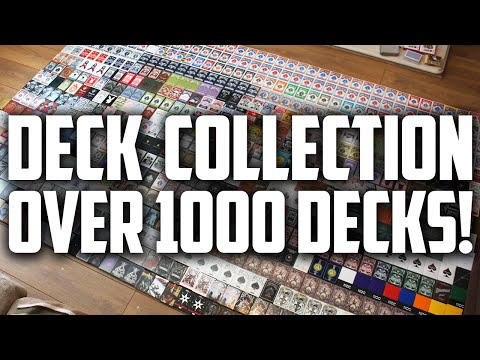 My Playing Card Collection Over 1000 Decks [2015]