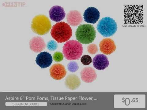 Aspire Tissue Paper Flower, Wedding/ Birthday/Christmas Decoration From Opentip.com