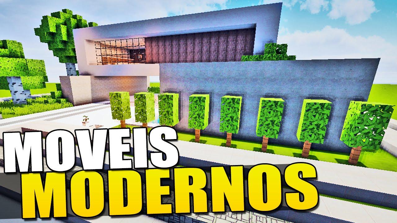 Minecraft  Como Fazer Moveis Modernos  YouTube -> Como Fazer Banheiro Moderno No Minecraft