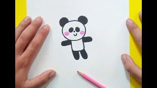 Como dibujar un oso panda paso a paso 3   How to draw a panda 3