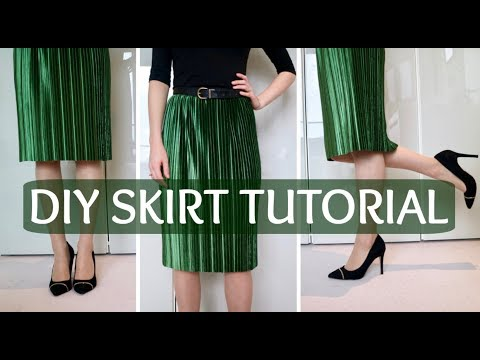 DIY: How To Make An Elastic Waist Skirt Without A Pattern