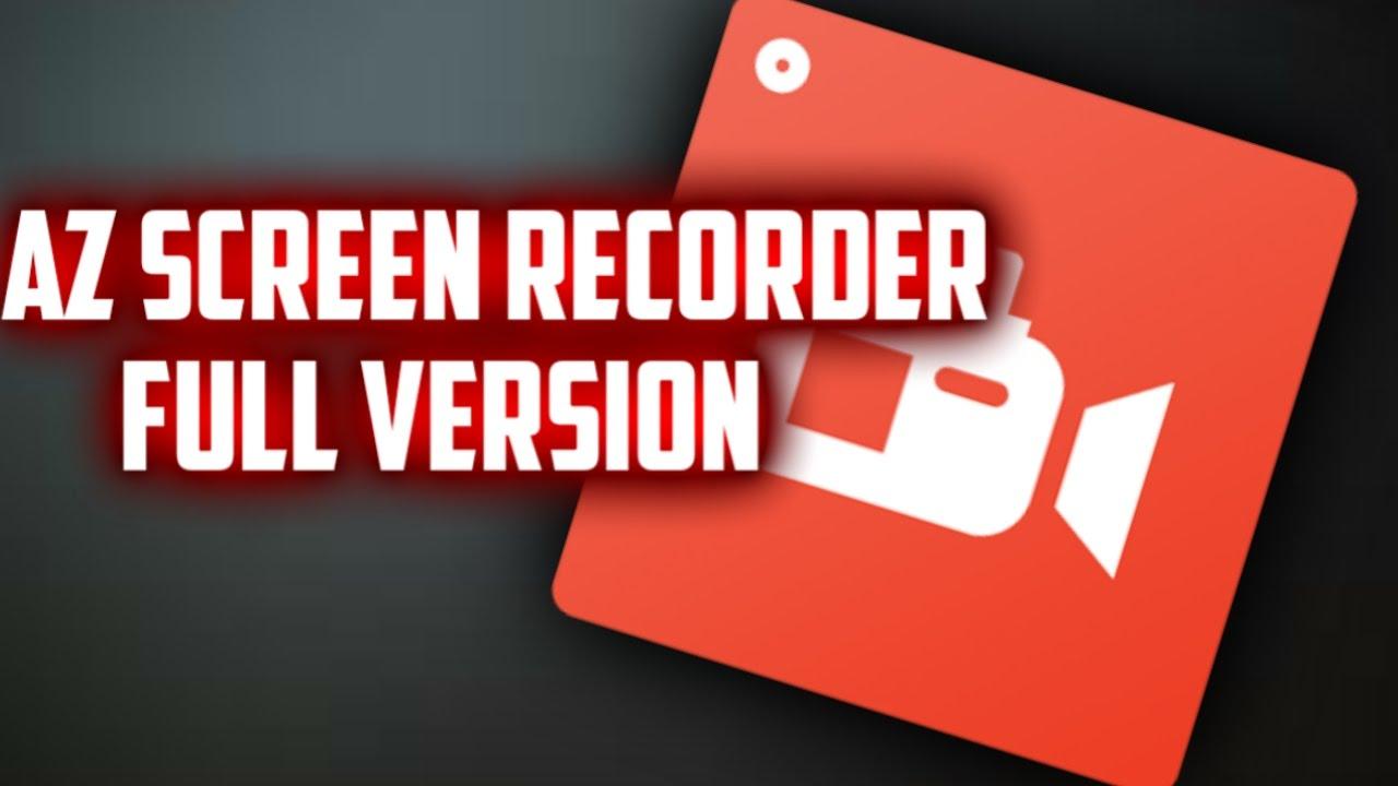 az screen recorder full version free download