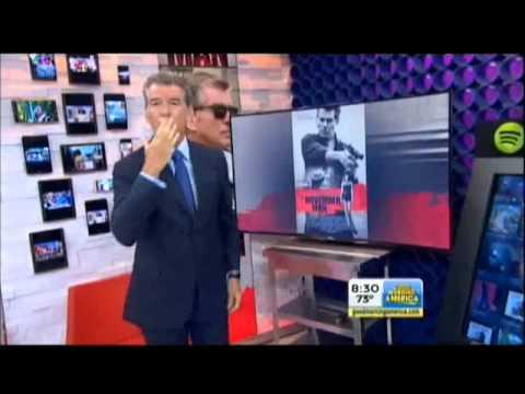 Pierce Brosnan Silliness on GMA - August 20, 2014