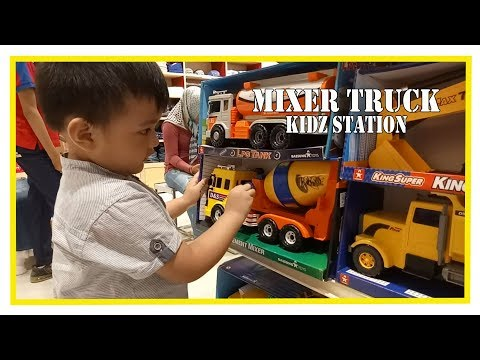 Mainan Anak Mobil Truk Molen, Truk Pasir Dump Truck Mixer Truck Fire Truck For Kids Station
