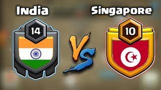 🔥 INDIA VS SINGAPORE 💵 TOUGH WAR 😟 AMAZING ATTACK 🔥Clash of clans