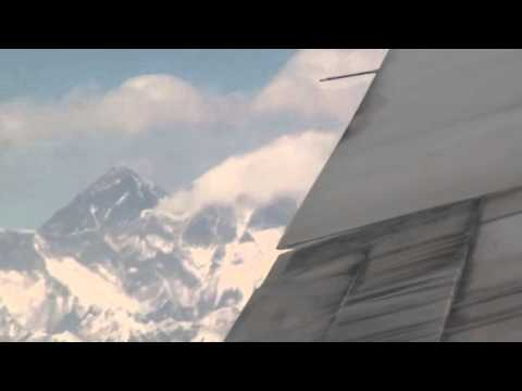A Turbulent Flight Over Mount Everest