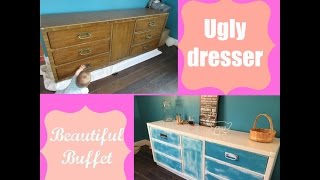 Diy | Ugly Dresser Into Beautiful Buffet