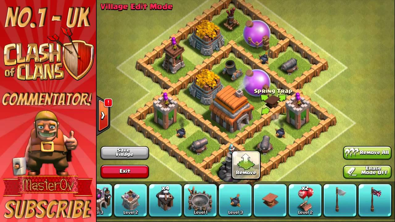 Clash of clans town hall level 5 best defense strategy!   clash.