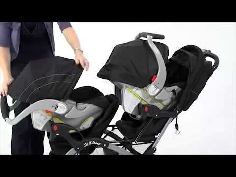 Baby Trend Sit N\' Stand Double Stroller - YouTube