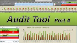 Audit - Action Packed Audits - Excel 2010 Tutorial Part 4