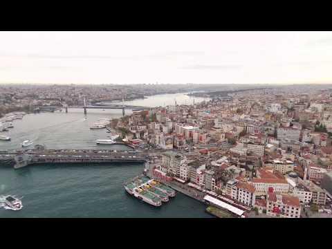 Golden Horn (Haliç) İstanbul/TURKEY - City View - Drone