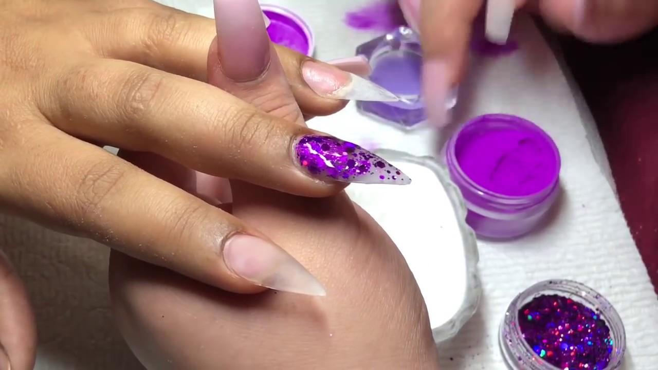 Purple passion 😍 stiletto nails!