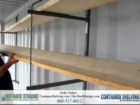 How To Install Shelves In A Shipping Container Youtube