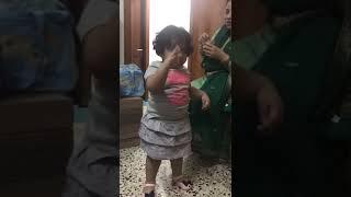 Cute dance by indian chubby girl kid