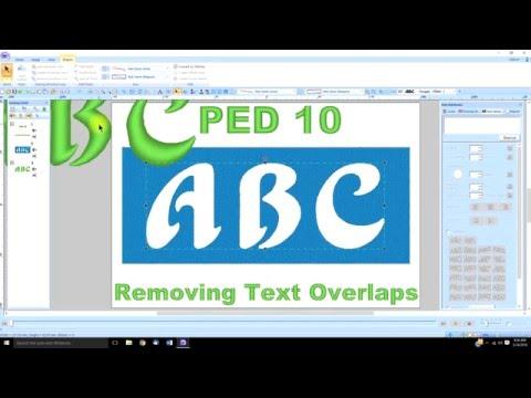 PE Design 10 (lesson 21) Removing Text Overlaps