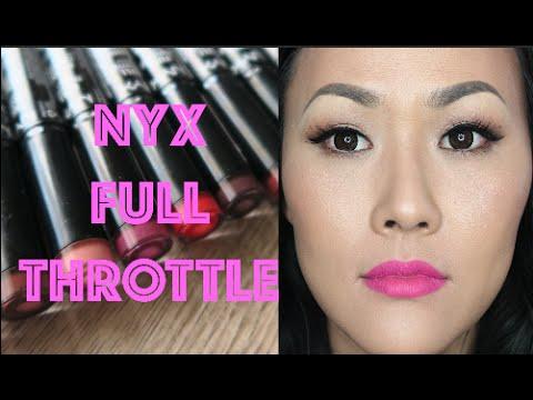 NYX FULL THROTTLE LIPSTICKS | ON LIP SWATCHES - YouTube  NYX FULL THROTT...