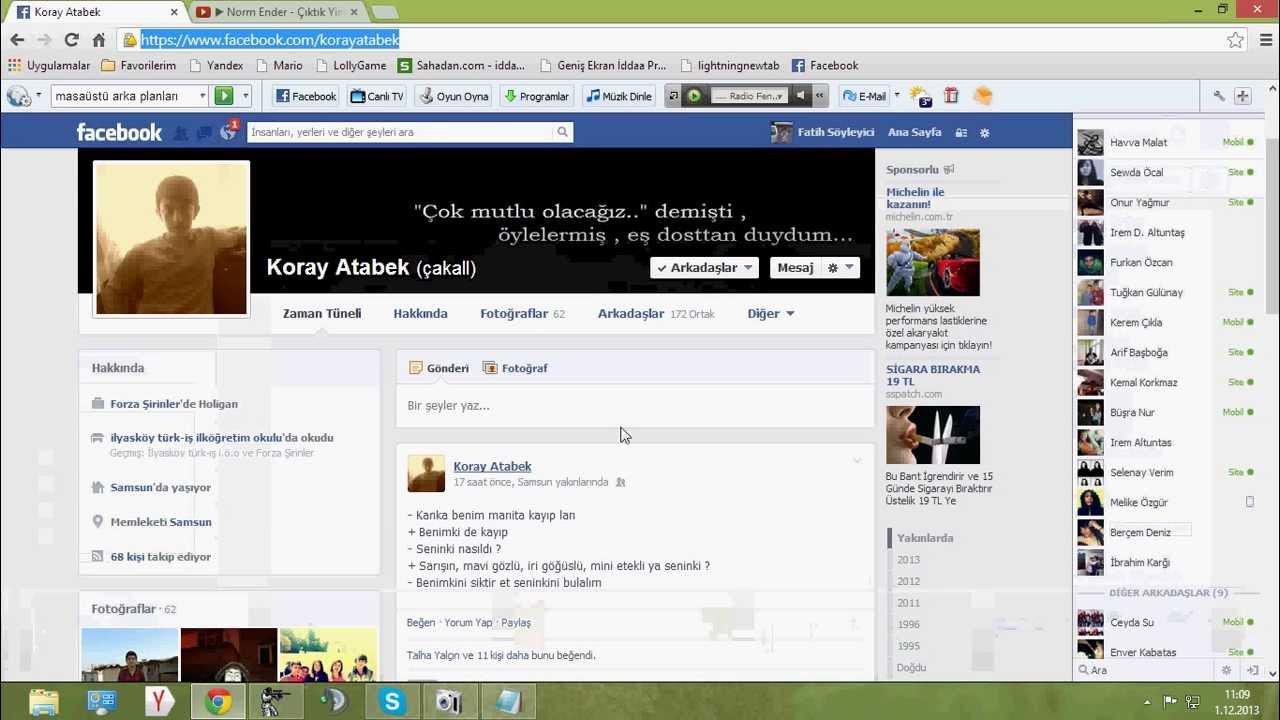 Facebookta birini hacklemek