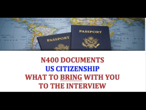 N400 Documents For Us Citizenship Youtube