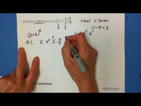 Algebra: The Binomial Theorem: Find the Specified Term (1)