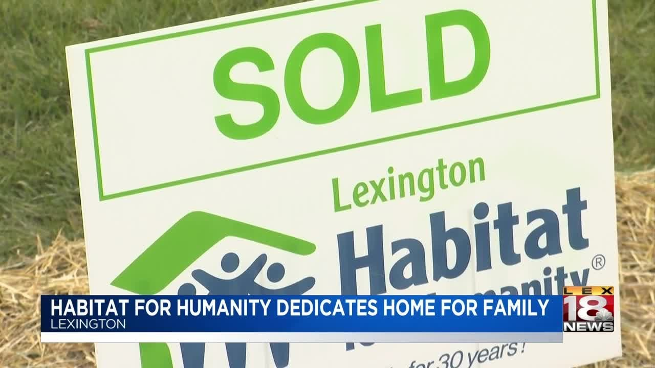 Habitat For Humanity Dedicates Home For Family