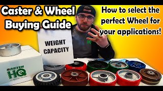 Caster & Wheel Buyers Guide  - Choosing the Perfect Wheel for your Tool Box, Cart, & Equipment