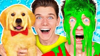 Dogs Pick our Mystery Slime Challenge! Learn How To Make the Best DIY Funny Switch Up Oobleck Game thumbnail