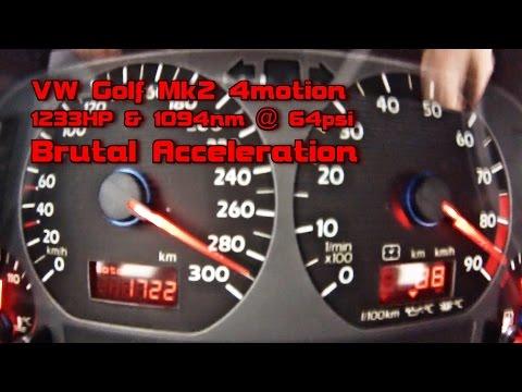VW Golf 1233HP 0-290 In 9s Brutal Acceleration 2016 Part4