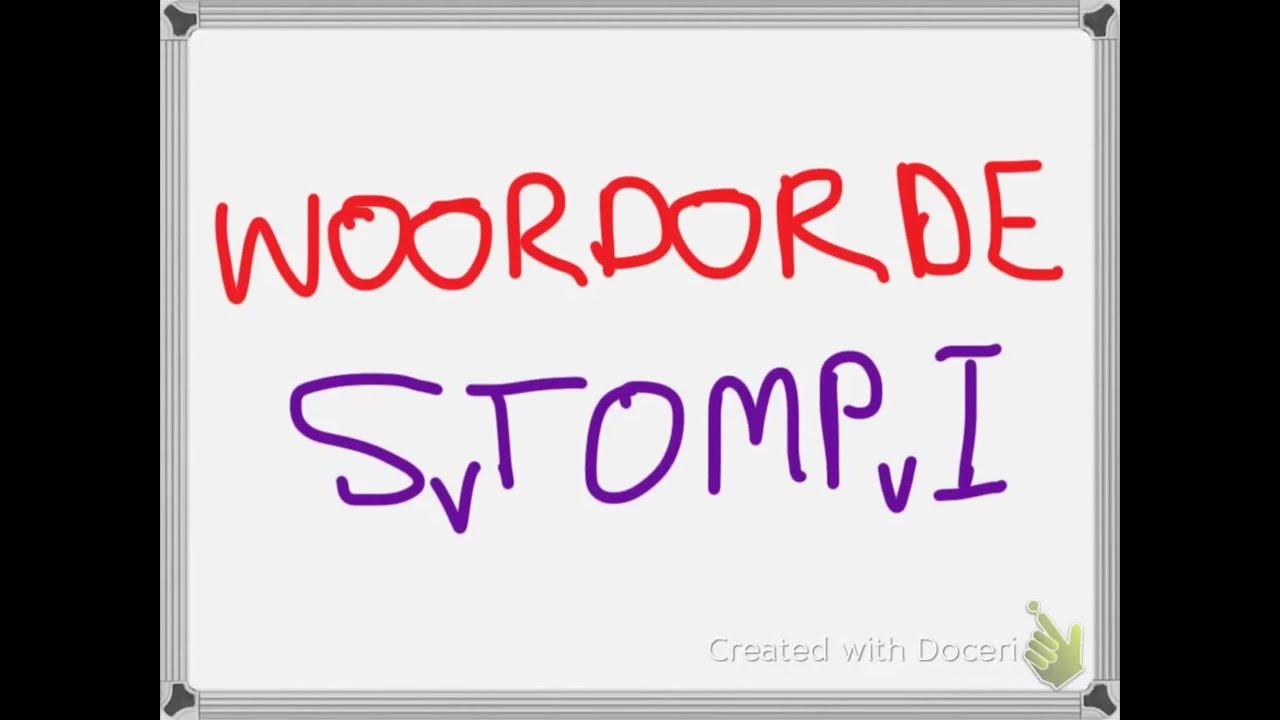 Afrikaans - Woordorde (Word Order) - STOMPI - YouTube [ 720 x 1280 Pixel ]