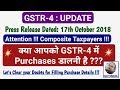 GSTR-4 Purchase Details Mandatory or Not |Composition Return Update|Press Release Dt 17th Oct 2018