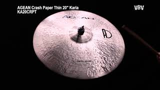 "20"" Crash Paper Thin Karia video"