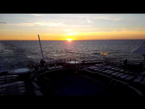 Time-Lapse Sunset Recorded From Fred. Olsen Cruise Lines Balmoral