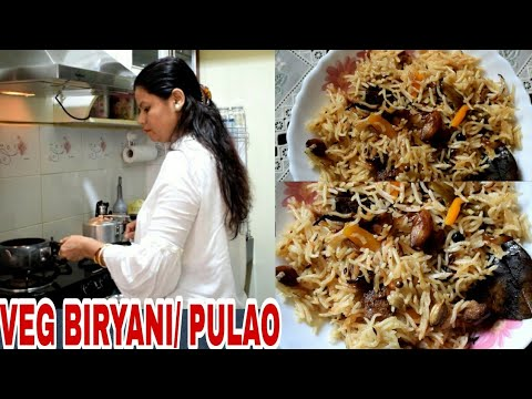 #VEG #BIRYANI ! VEG PULAO RECIPE! INDIAN VEG BIRYANI SIMPLE AND YUMMY! #COOKVLOG!