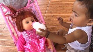 Balita Unboxing Mainan Anak Boneka Bayi Lucu Bisa Nangis - Kereta Dorong Bayi