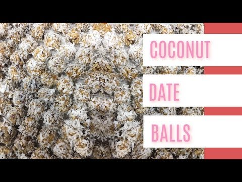 COCONUT DATE BALLS  (BAKING LIVE WITH KEN'S KREATIONS)