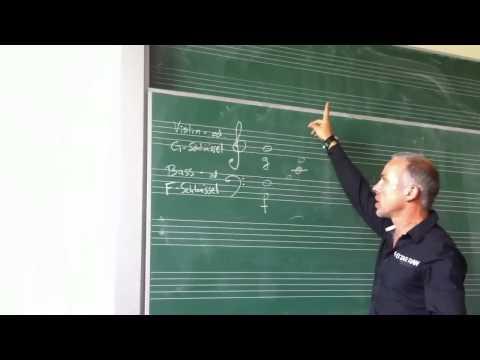 Violin- und Bassschlüssel