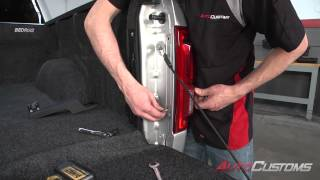 Undercover Swing Case Toolbox No Drill Install On 2015 Ford F150 - Autocustoms.com