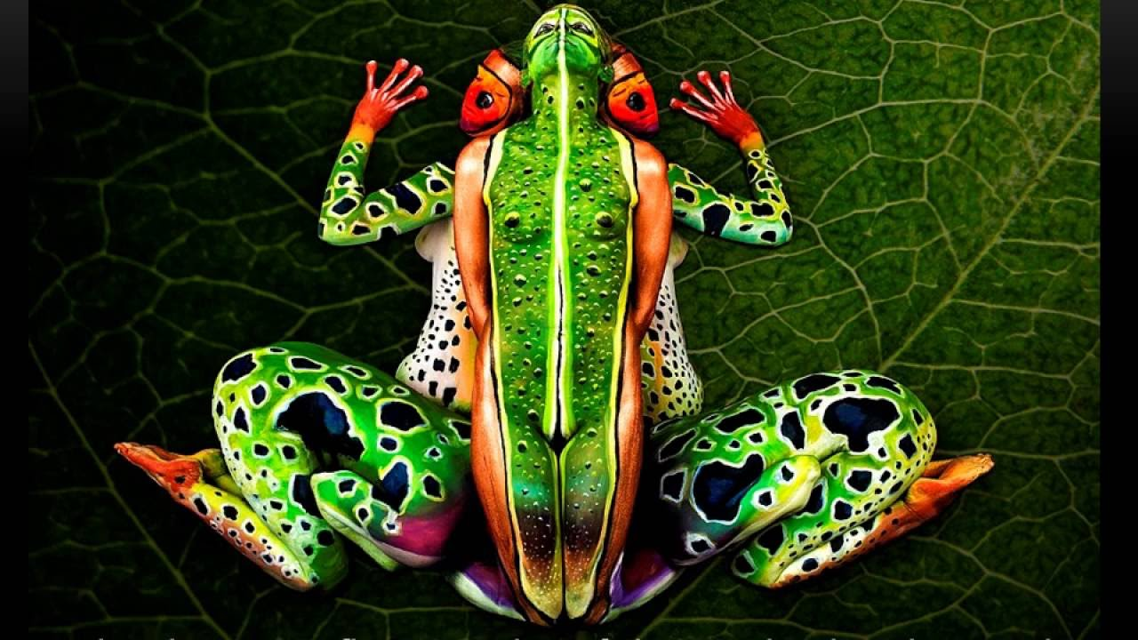 Amazing Body Art Illusions By Johannes Youtube