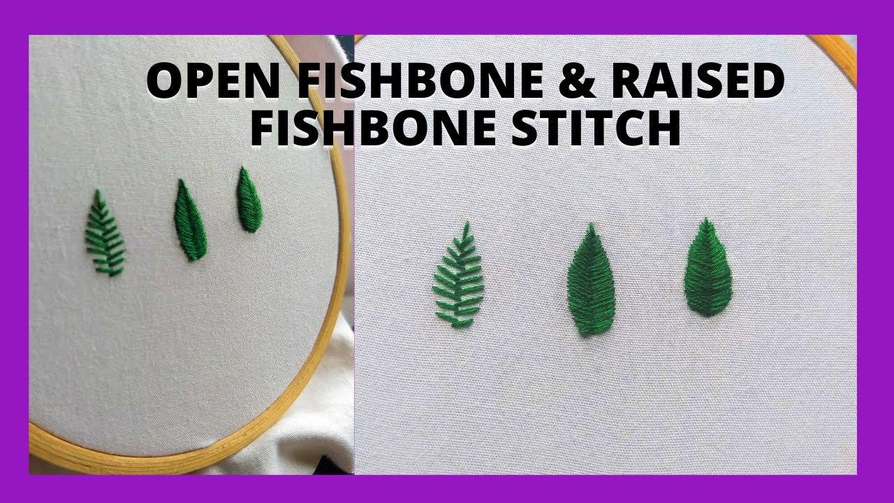 Open Fishbone & Raised Fishbone Stitch   malayalam   YouTube