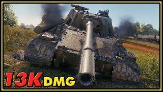 Object 268 Version 4 - 13K Damage - World of Tanks 1.0 Gameplay