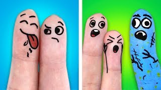 25 FUNNY FINGER ARTS | WHAT TO DO ON A BORING DAY