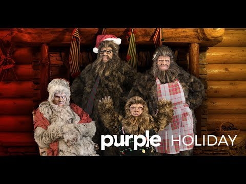 Happy Holidays From The Sasquatch Family - Purple