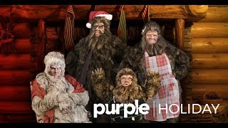 Happy Holidays From The Sasquatch Family - Purple thumbnail