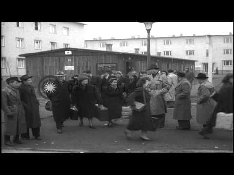 Scenes at a Displaced Persons Camp in Germany. Persons show identification as the...HD Stock Footage