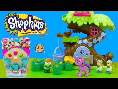 Shopkins Season 3 5 Pack Unboxing At Treehouse With My Little Pony Twilight Cookieswirlc Video