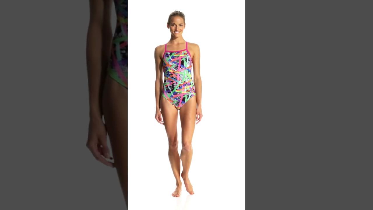 60f0b397de14c Speedo Flipturns Women's Rainbow Riot Propel Back One Piece Swimsuit |  SwimOutlet.com