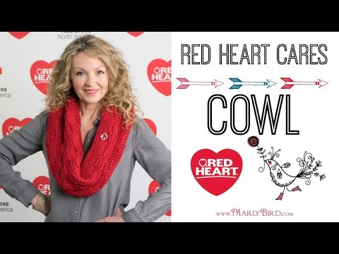 Red Heart Cares Knit Cowl