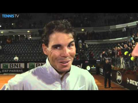 Rome 2014 Friday Interview Nadal